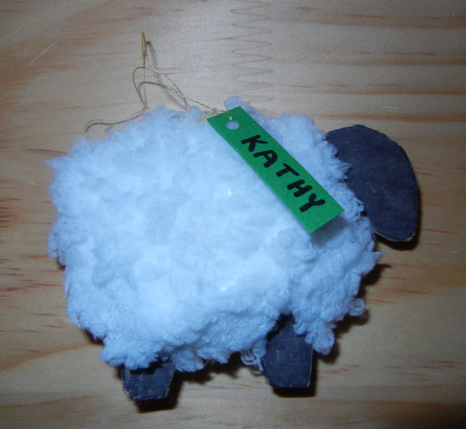 Craft sheep party eclectic lamb for Sheep christmas ornament craft