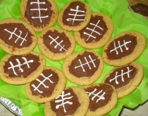 Peanut Butter Chocolate FootballCookies