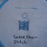 Week 25 TAST Cable Chain Stitch