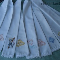 Hand Embroidered Baptism Stoles