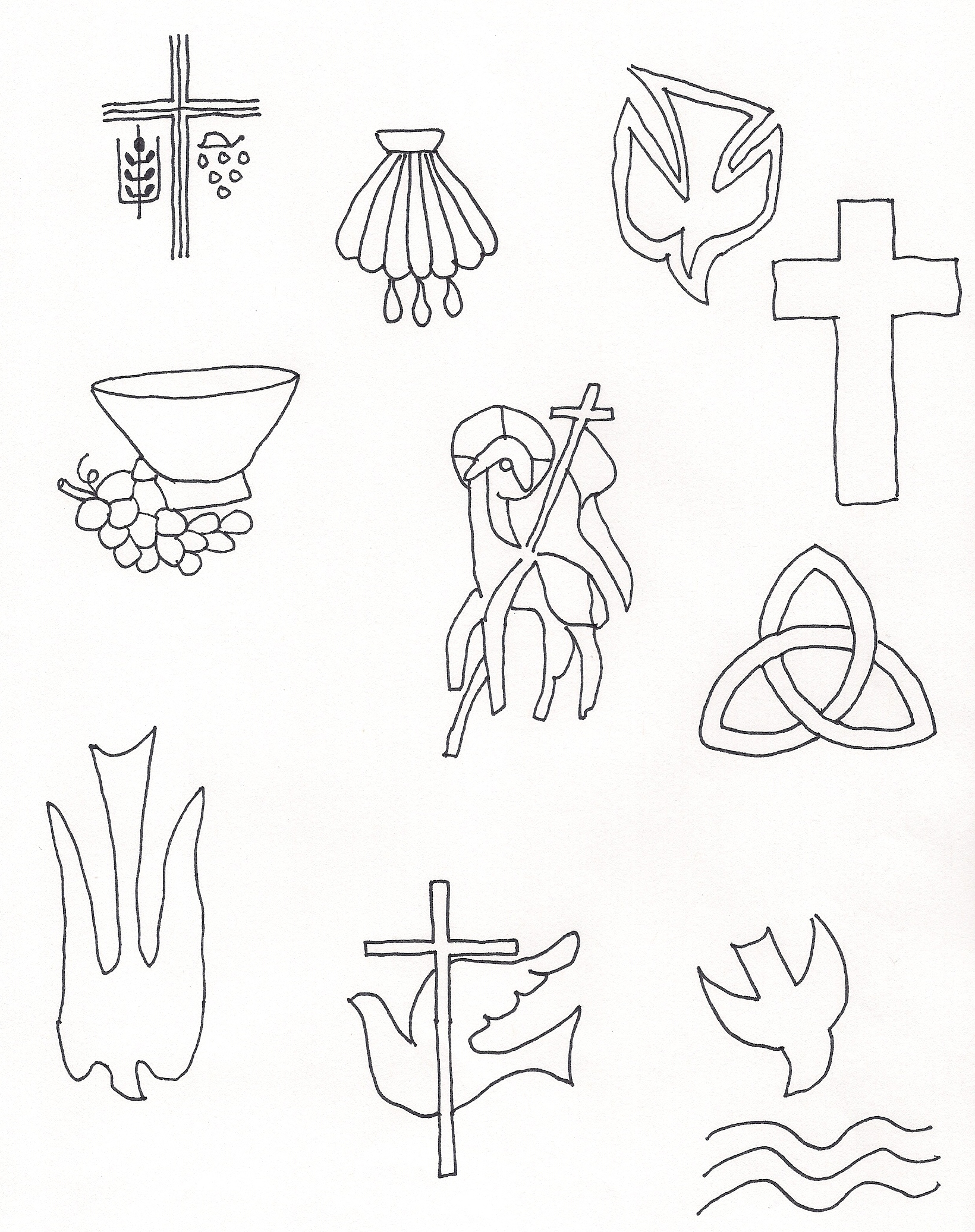baptism shell coloring pages - photo#8