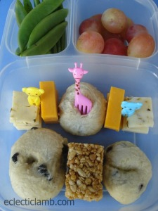 Bagel and Granola Bar Bento