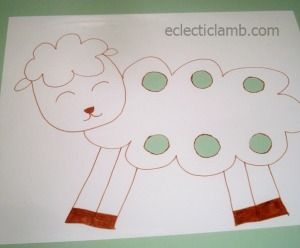 Sheep on full shrink plastic sheet