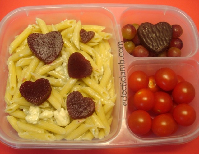Pasta with Beet Hearts