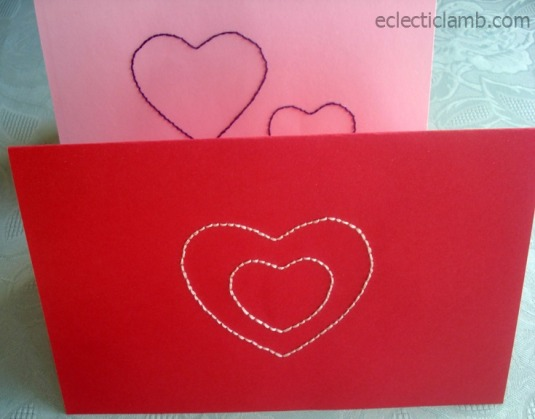 Stitched Valentine's Day Cards