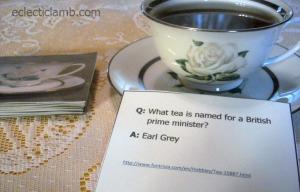 Tea Trivia Card