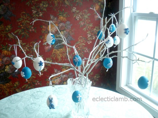 Quilled Eggs Tree