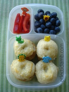 Animal Face Bagel Bento