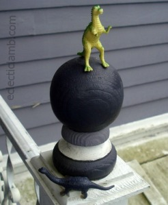 Dinos on Porch