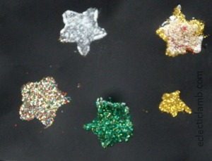 Glitter Stars Finished