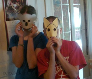 Koala and Kangaroo Masks