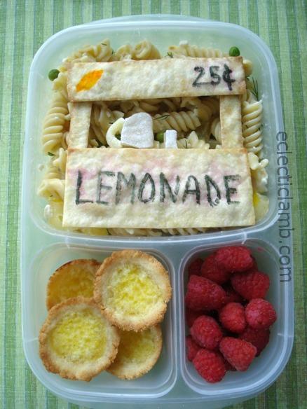 Lemonade stand bento eclectic lamb for Lemon shaped lemonade stand