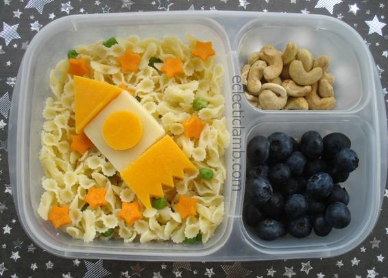 Spaceship Pasta Lunch