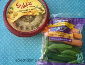 Hummus and Vegetables in Packages