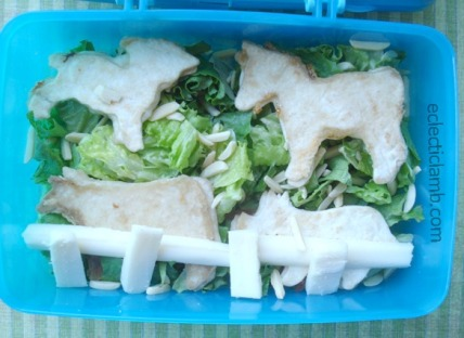 Kid Made Farm Animal Lunch