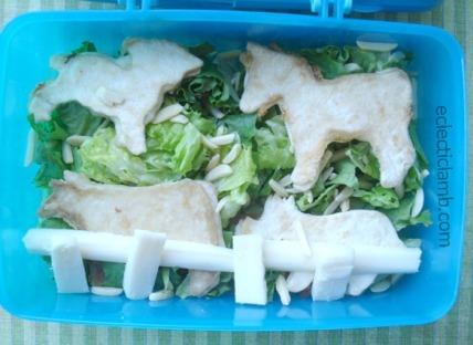 Kid Made Farm Animal Lunch