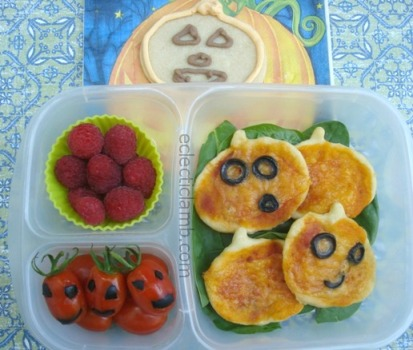 Jack-o-Lantern Pizza Lunch
