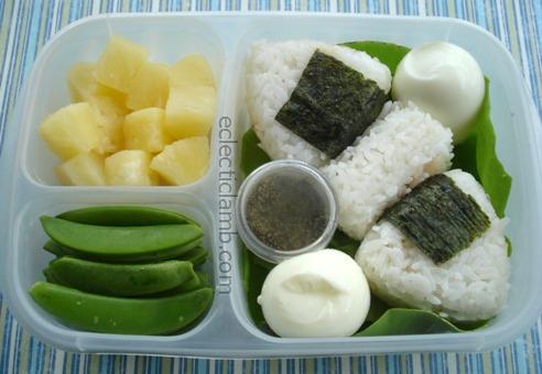 Onigiri Egg Lunch