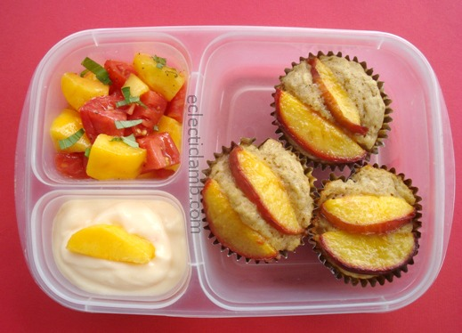 Peach Muffins Lunch
