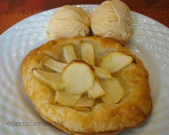 Apple Tart with Pumpkin Ice Cream