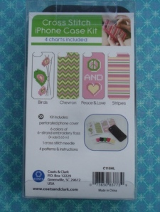 iPhone cross stitch kit back