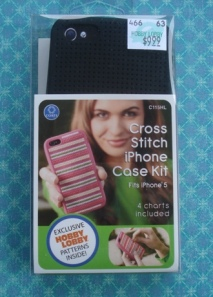 iPhone cross stitck kit front