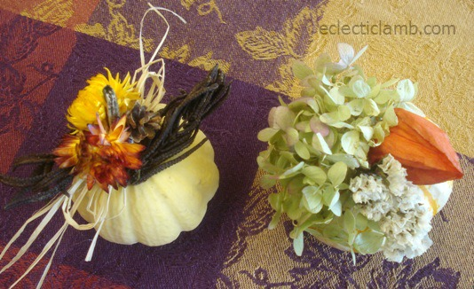 2 Decorated Gourds