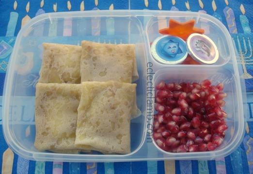 Apple Brie Blintzes Lunch