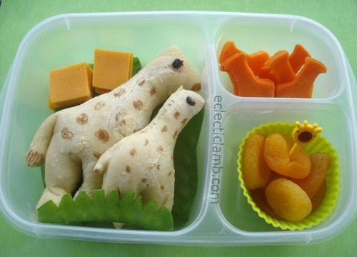 Giraffe Shaped Bread Lunch