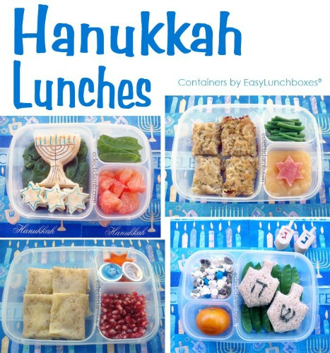 Hanukkah Lunch Collage
