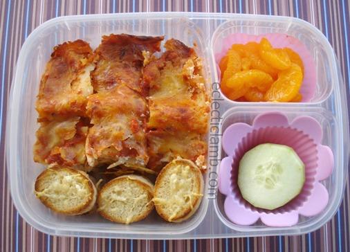 Lasagna Crostini Cucumber