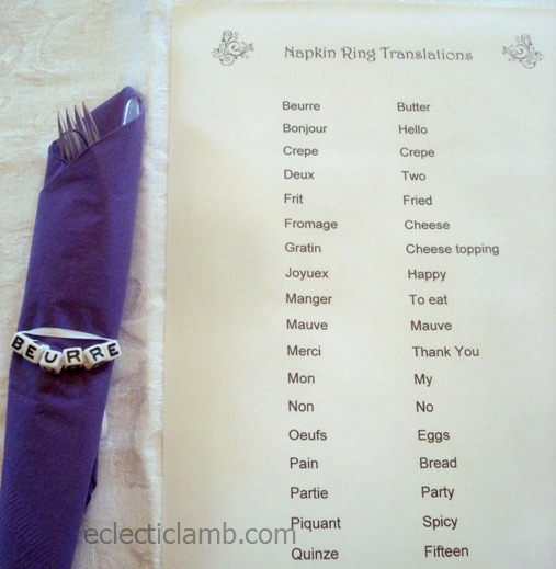 Napkin Ring and Translations