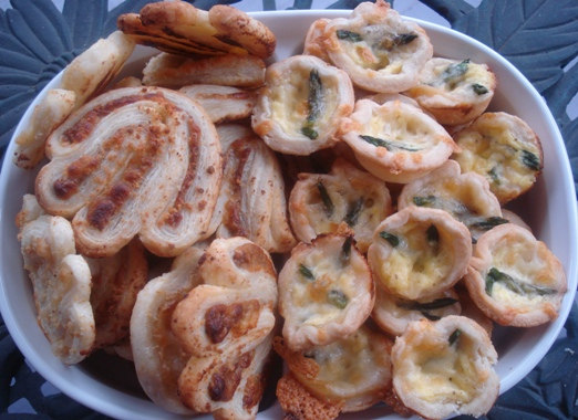 Palmiers and Mini Quiches