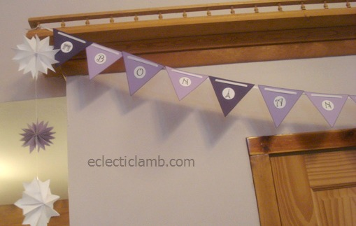Paris Party Birthday Banner