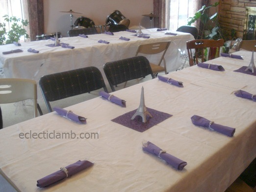Paris Party Tables