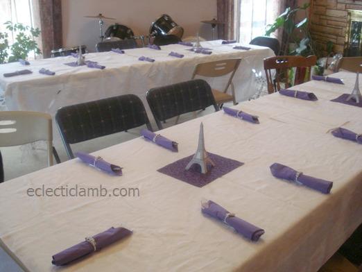 Paris Party Tables