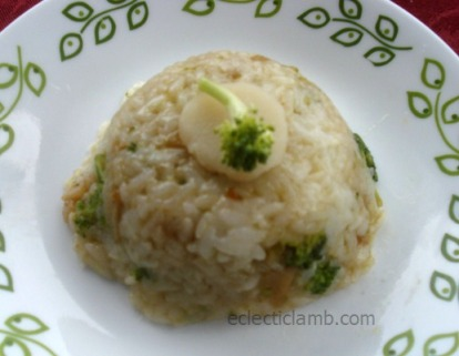 Broccoli and Water Chestnut Rice