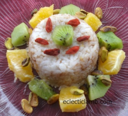 Cinnamon Rice with Fruit and Nuts