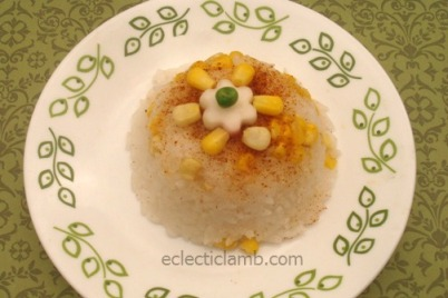 Rice with Corn and Garlic