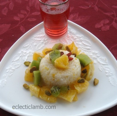 Orange Zest Rice with Fruit and Nuts