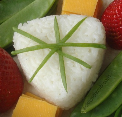 Rice with Snow Pea Garnish