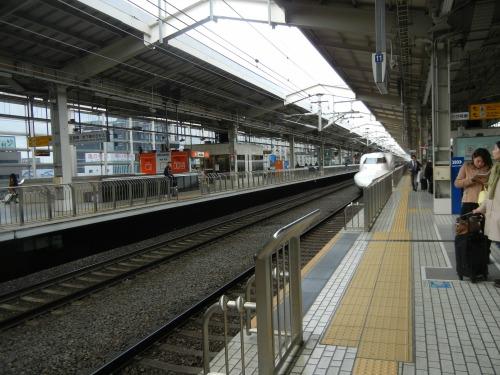 Arriving Shinkansen