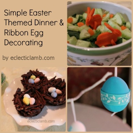 Easter Themed Dinner and Egg Deco