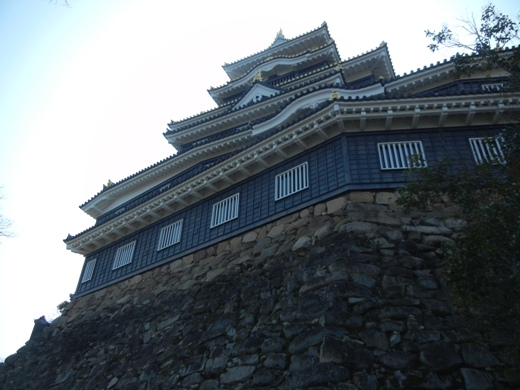 Look up at Okayama Castle