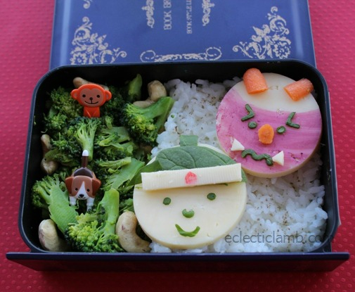 peach boy bento lunch