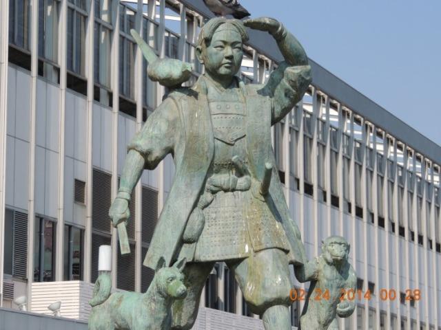 Momotaro Statue 2