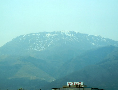 Mountain View from Bullet Train