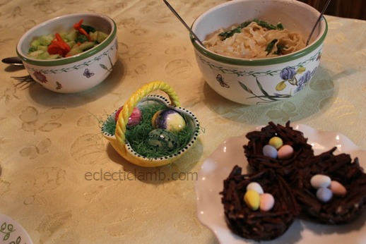 Simple Easter Themed Dinner