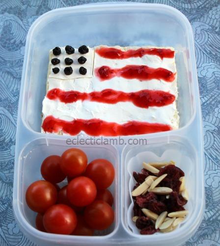 Open Face Flag Sandwich Lunch