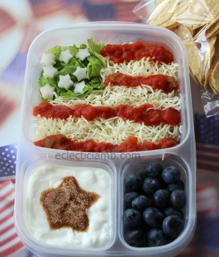 Taco Salad Flag Lunch
